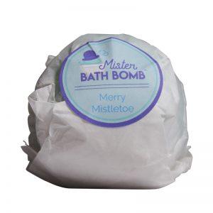 Merry Mistletoe Wrapped Bath Bomb